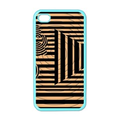 Wooden Pause Play Paws Abstract Oparton Line Roulette Spin Apple Iphone 4 Case (color)