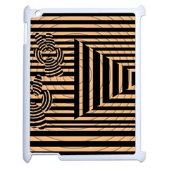 Wooden Pause Play Paws Abstract Oparton Line Roulette Spin Apple Ipad 2 Case (white) by BangZart