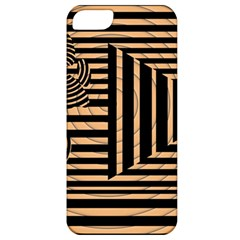 Wooden Pause Play Paws Abstract Oparton Line Roulette Spin Apple Iphone 5 Classic Hardshell Case
