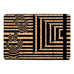 Wooden Pause Play Paws Abstract Oparton Line Roulette Spin Samsung Galaxy Tab Pro 10 1  Flip Case