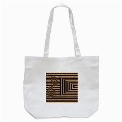 Wooden Pause Play Paws Abstract Oparton Line Roulette Spin Tote Bag (white)