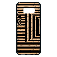 Wooden Pause Play Paws Abstract Oparton Line Roulette Spin Samsung Galaxy S8 Plus Black Seamless Case by BangZart
