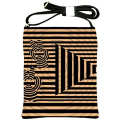 Wooden Pause Play Paws Abstract Oparton Line Roulette Spin Shoulder Sling Bags by BangZart