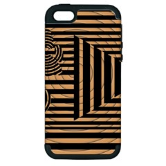 Wooden Pause Play Paws Abstract Oparton Line Roulette Spin Apple Iphone 5 Hardshell Case (pc+silicone) by BangZart