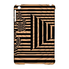 Wooden Pause Play Paws Abstract Oparton Line Roulette Spin Apple Ipad Mini Hardshell Case (compatible With Smart Cover)