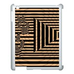 Wooden Pause Play Paws Abstract Oparton Line Roulette Spin Apple iPad 3/4 Case (White) Front