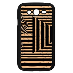 Wooden Pause Play Paws Abstract Oparton Line Roulette Spin Samsung Galaxy Grand Duos I9082 Case (black) by BangZart