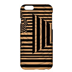 Wooden Pause Play Paws Abstract Oparton Line Roulette Spin Apple Iphone 6 Plus/6s Plus Hardshell Case