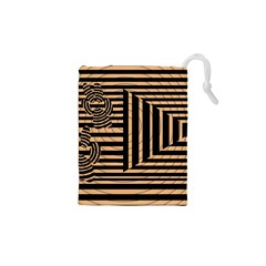 Wooden Pause Play Paws Abstract Oparton Line Roulette Spin Drawstring Pouches (xs)  by BangZart
