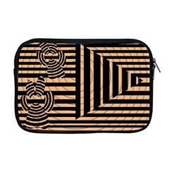 Wooden Pause Play Paws Abstract Oparton Line Roulette Spin Apple Macbook Pro 17  Zipper Case