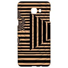 Wooden Pause Play Paws Abstract Oparton Line Roulette Spin Samsung C9 Pro Hardshell Case