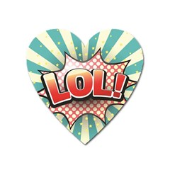 Lol Comic Speech Bubble  Vector Illustration Heart Magnet by BangZart