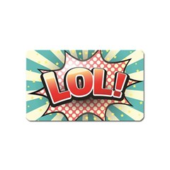 Lol Comic Speech Bubble  Vector Illustration Magnet (name Card)
