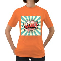 Lol Comic Speech Bubble  Vector Illustration Women s Dark T Shirt by BangZart