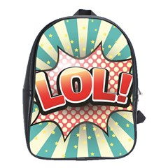 Lol Comic Speech Bubble  Vector Illustration School Bags(large)  by BangZart