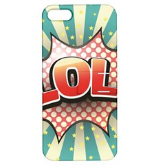 Lol Comic Speech Bubble  Vector Illustration Apple Iphone 5 Hardshell Case With Stand