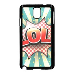 Lol Comic Speech Bubble  Vector Illustration Samsung Galaxy Note 3 Neo Hardshell Case (black) by BangZart