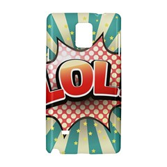 Lol Comic Speech Bubble  Vector Illustration Samsung Galaxy Note 4 Hardshell Case by BangZart