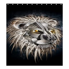 Lion Robot Shower Curtain 66  X 72  (large)