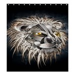 Lion Robot Shower Curtain 66  x 72  (Large)  58.75 x64.8  Curtain