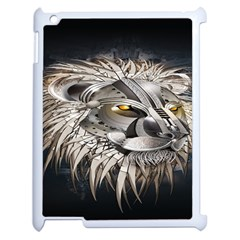 Lion Robot Apple Ipad 2 Case (white) by BangZart