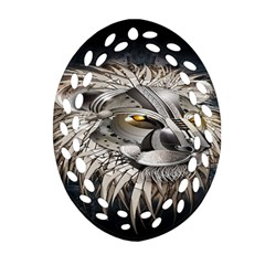 Lion Robot Oval Filigree Ornament (two Sides) by BangZart