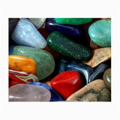 Stones Colors Pattern Pebbles Macro Rocks Small Glasses Cloth (2 Side)