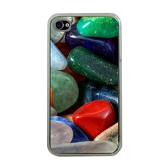 Stones Colors Pattern Pebbles Macro Rocks Apple Iphone 4 Case (clear)