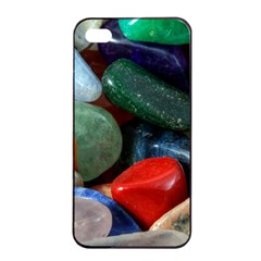 Stones Colors Pattern Pebbles Macro Rocks Apple Iphone 4/4s Seamless Case (black) by BangZart