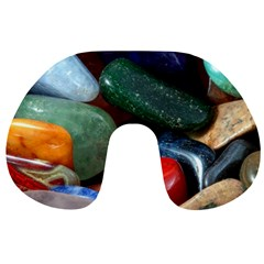 Stones Colors Pattern Pebbles Macro Rocks Travel Neck Pillows