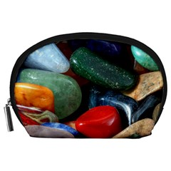 Stones Colors Pattern Pebbles Macro Rocks Accessory Pouches (large)