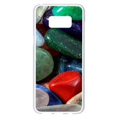 Stones Colors Pattern Pebbles Macro Rocks Samsung Galaxy S8 Plus White Seamless Case