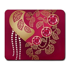 Love Heart Large Mousepads by BangZart