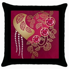 Love Heart Throw Pillow Case (black) by BangZart