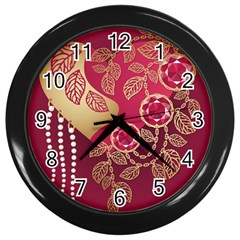 Love Heart Wall Clocks (black) by BangZart