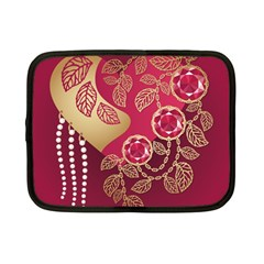 Love Heart Netbook Case (small)  by BangZart