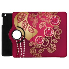 Love Heart Apple Ipad Mini Flip 360 Case by BangZart