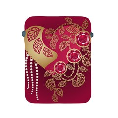 Love Heart Apple Ipad 2/3/4 Protective Soft Cases by BangZart