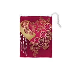 Love Heart Drawstring Pouches (small)