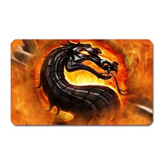 Dragon And Fire Magnet (rectangular) by BangZart