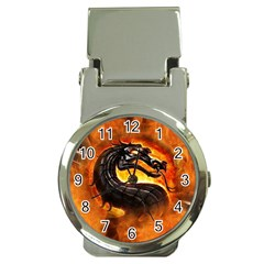 Dragon And Fire Money Clip Watches by BangZart