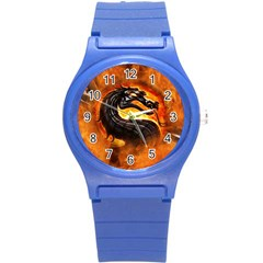 Dragon And Fire Round Plastic Sport Watch (s)