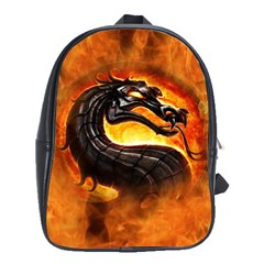 Dragon And Fire School Bags (xl)  by BangZart
