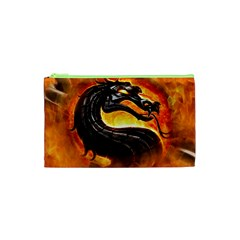 Dragon And Fire Cosmetic Bag (xs) by BangZart