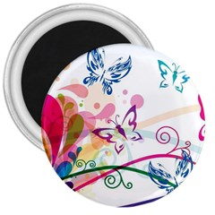 Butterfly Vector Art 3  Magnets by BangZart
