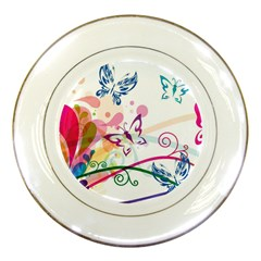 Butterfly Vector Art Porcelain Plates by BangZart
