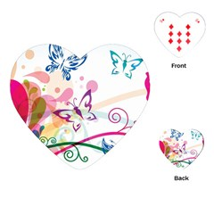 Butterfly Vector Art Playing Cards (heart)  by BangZart