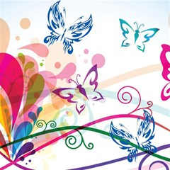 Butterfly Vector Art Magic Photo Cubes by BangZart