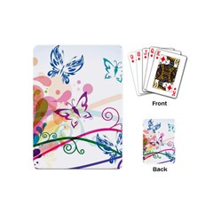Butterfly Vector Art Playing Cards (mini)  by BangZart
