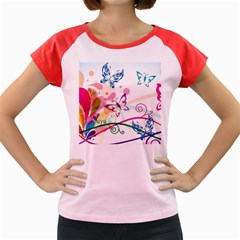 Butterfly Vector Art Women s Cap Sleeve T Shirt